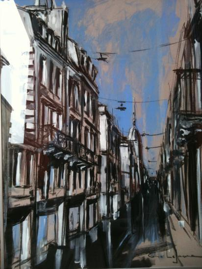 Rue porte-Dijeaux 1. Bordeaux. Format 60 x 80. Col. part.