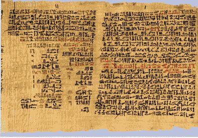 Portion du Papyrus d'Ebers