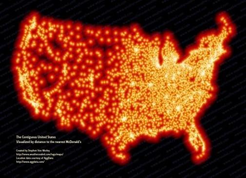Fastfood Restaurants A Model That Has Spread Worldwide - Us map of fast food restaurants