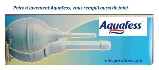 parodie fausse pub aquafresh aquafess  poire lavement