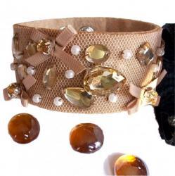 Bracelet Rétro Lolita Résille BEIGE