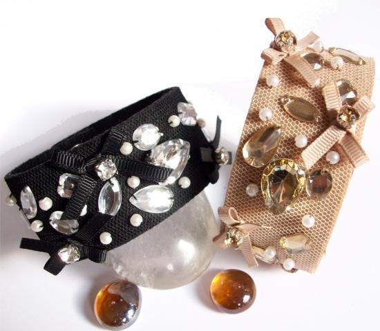 Bracelet Rétro Lolita Résille Noir
