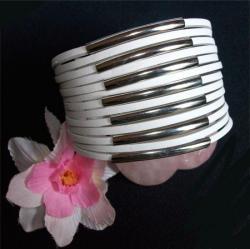 Bracelet Cuir Tube Blanc