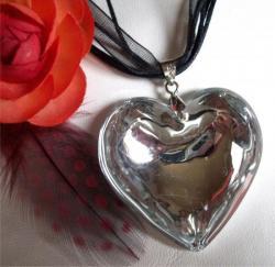 Coeur Murano Cristal Argent