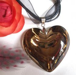 Coeur Murano Cristal Doré