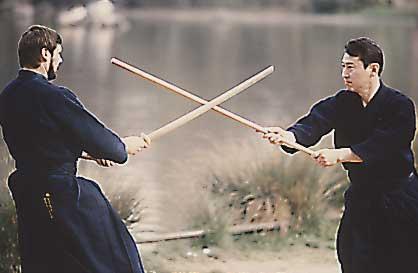 Réniez Sensei (Kyoshi 7ème Dan) Matsumura Sensei (Hanshi 8ème Dan)