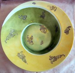"""plat spirale vert """"arabesques"""""""