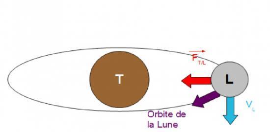 Terre Lune inertie gravitation