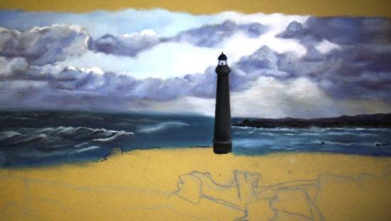 Célèbre comment dessiner la mer au pastel sec JO83