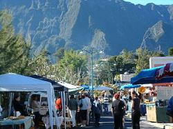 Le marché forain de Cilaos