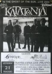 Katatonia - Milan 2004
