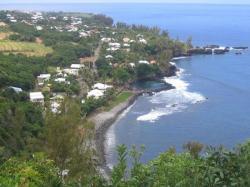 plage de Manapany Saint-Joseph vue de la RN3