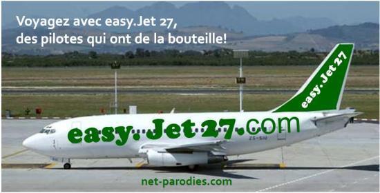parodie fausse pub compagnie aerienne easy jet 27