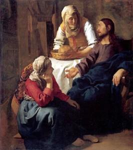 Le Christ dans la maison de Marthe et Marie - Vermeer - 1655 - Musée d'Edimbourg
