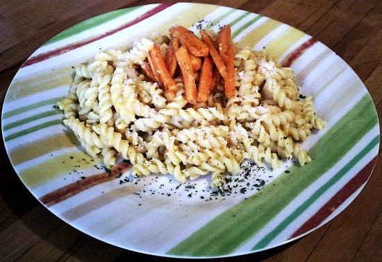 Pâtes à la carotte et à la courge
