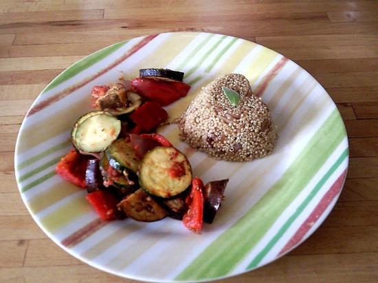 Ratatouille rôtie et quinoa