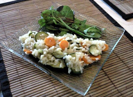 Risotto de courgettes et de carottes