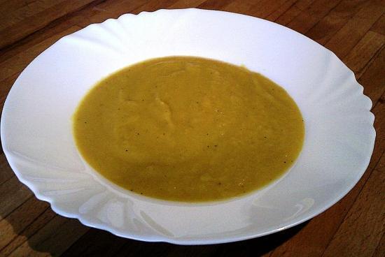 Soupes de poireaux et carottes