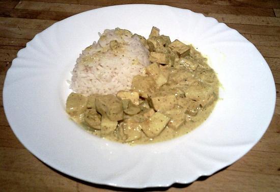 Tofu à l'ananas et au lait de coco