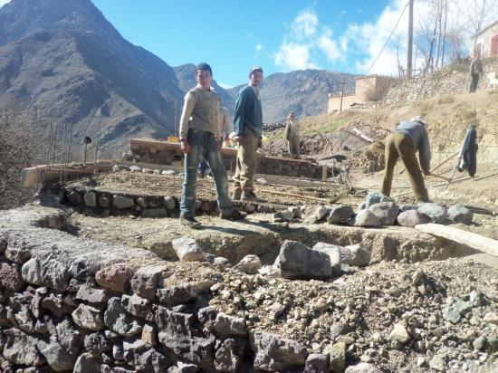 Construction de l'école d'Ait Souka