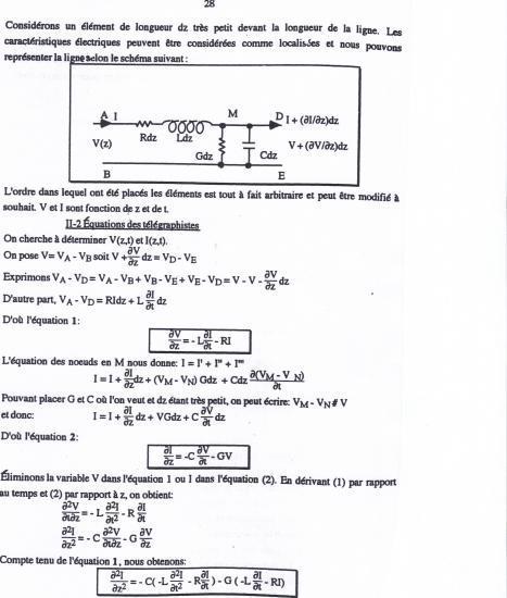 Équations des télégraphistes 2