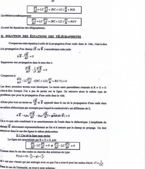 Équations des télégraphistes 3