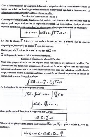 Texte équations de Maxwell 2