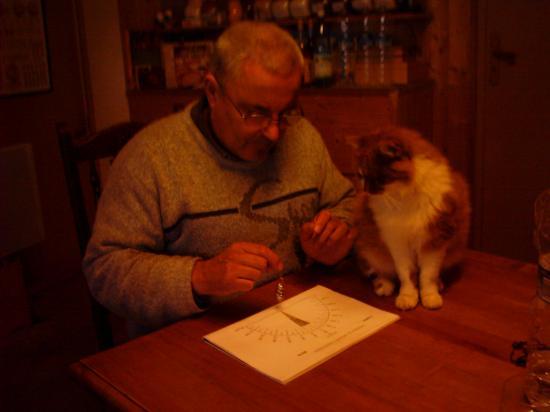 Le Maître et son chat Moïse
