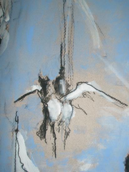 Muses et déesses. Bordeaux. 2011. Format 60 x 80. Détail.