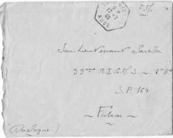 courrier 17/07/4O vers 33e à FIRBEIX