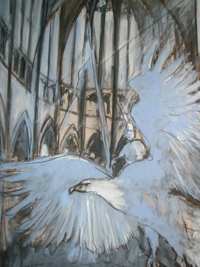 Le lutrin, cathédrale Saint-André.Bordeaux. 2011. Format 60 x80.
