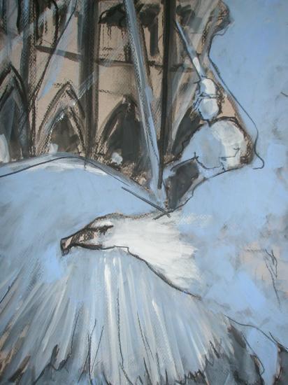 le lutrin. Cathédrale Saint-André. Bordeaux. 2011. Format 60 x 80. Détail