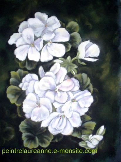 dessin au pastel de fleur géranium