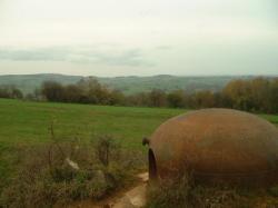 B2.Dessus,6km:bois Chénois;gauche:B4