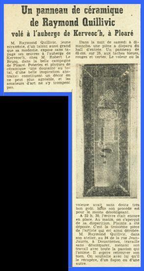 (Coupure de presse du Télégramme - 1969)