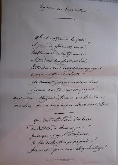 Le chant des Marseillais