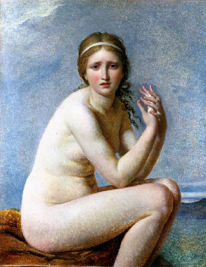 Psyche abandoned of Jacques-Louis David