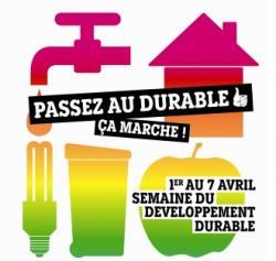 Campagne du gouvernement en 2010, la semaine du développement durable qui était du 1er au 7 avril.