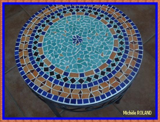 Table mosaique marocaine – Table de lit