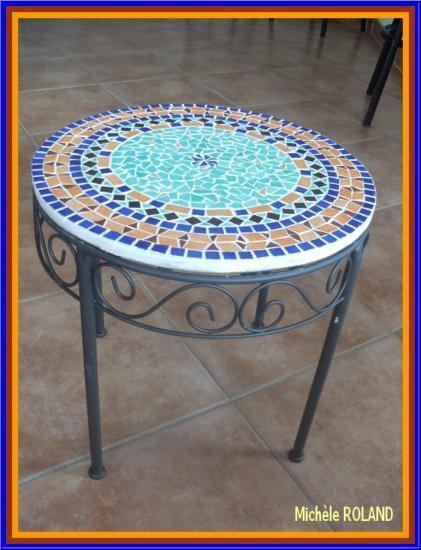 table marocaine rectangulaire, table en mosaïque, table fer forgé ...