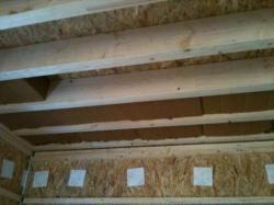 Pose fibre de bois, salle de bains