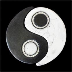 Urne yin et yang duo simple