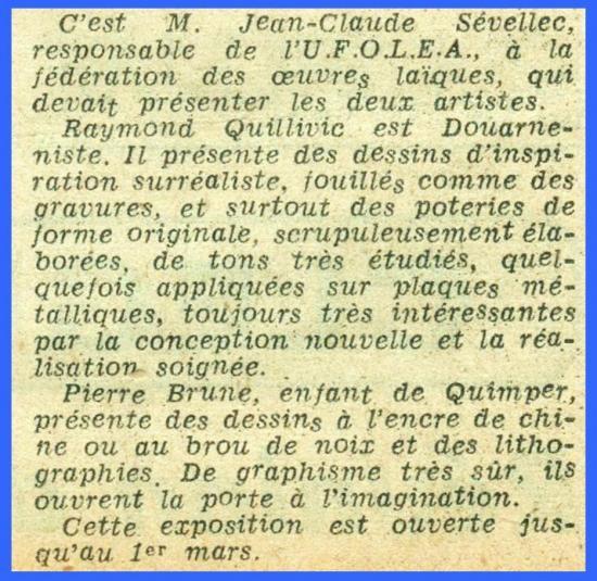 (Coupure de presse - Lorient - 1973)