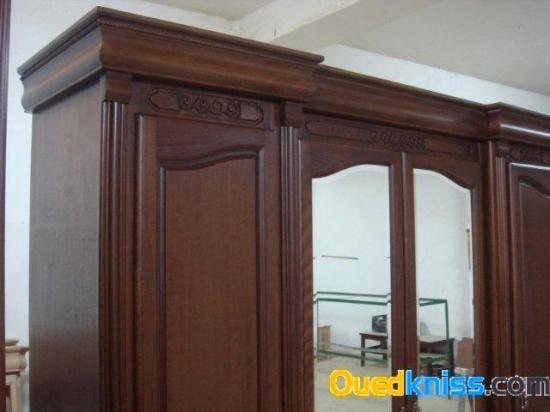 Chambre a coucher en h tre existe en 4 5 et 6 portes for Model chambre a coucher en bois