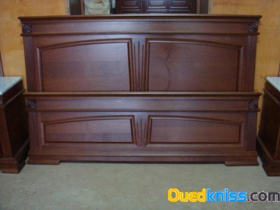 Chambre a coucher luxe en h tre massif 6 porte for Modele de chambre a coucher en bois massif
