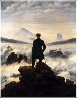 Friedrich David, voyageur contemplant une mer de nuages