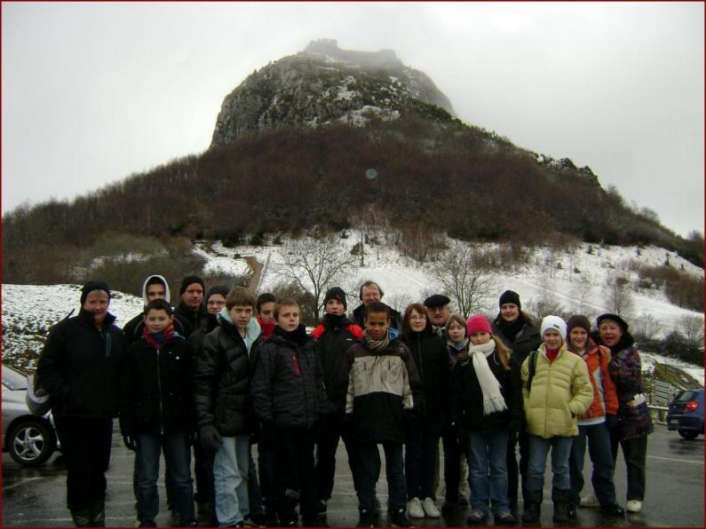 Les skieurs à Montségur