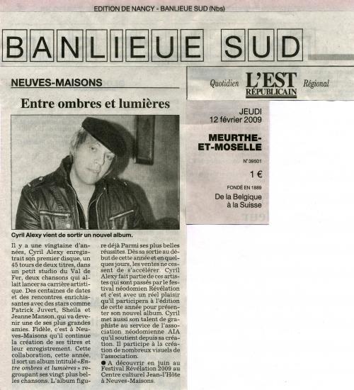 12/02/09 : L'EST REPUBLICAIN (Nancy Banlieue Sud)