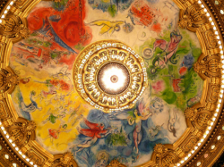 Opera Garnier, le plafond peint par Chagall, the ceiling painted by Chagall, Esprit de Paris - private guide