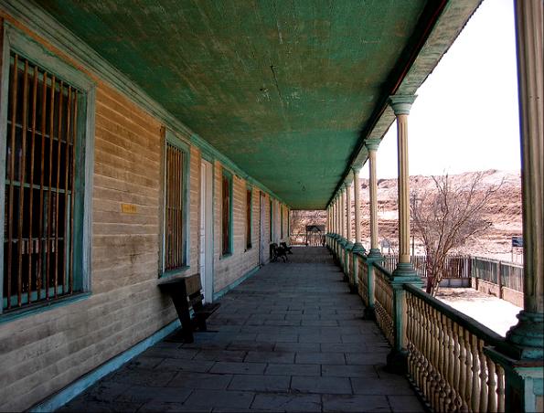 Anciens bureaux de l'administration de Humberstone aujourd'hui classé au patrimoine mondial de l'humanité par l'Unesco
